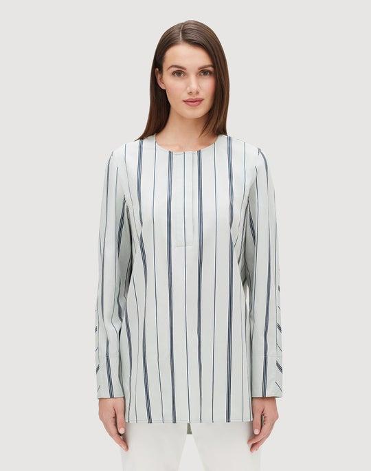 Plus-Size Sonoran Stripe Tilly Blouse