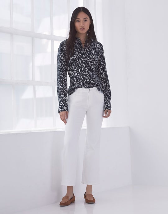 Scottie Blouse and Cropped Mercer Flare Jean