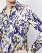 Plus-Size Scottie Blouse in Autumn Haze Print Silk
