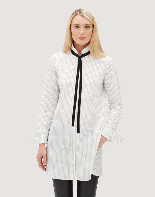 Plus-Size Stanford Stripe Annaliese Shirt