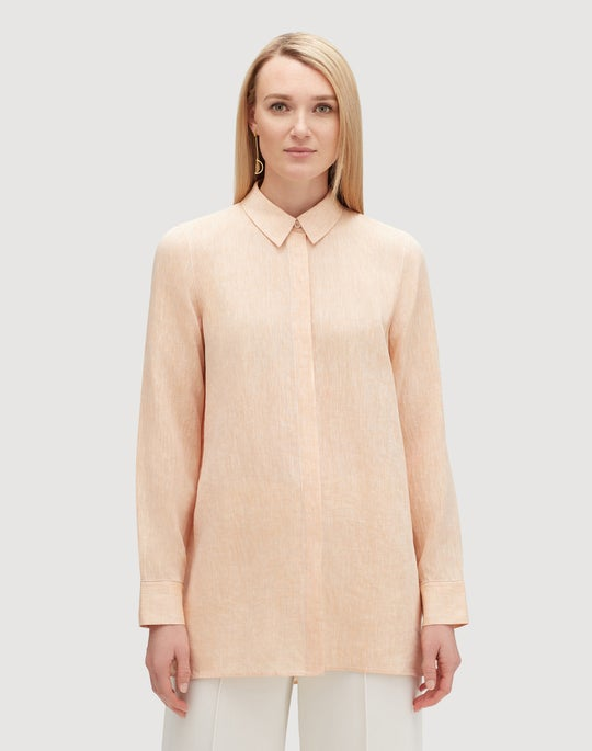 Plus-Size Illustrious Linen Porto Blouse