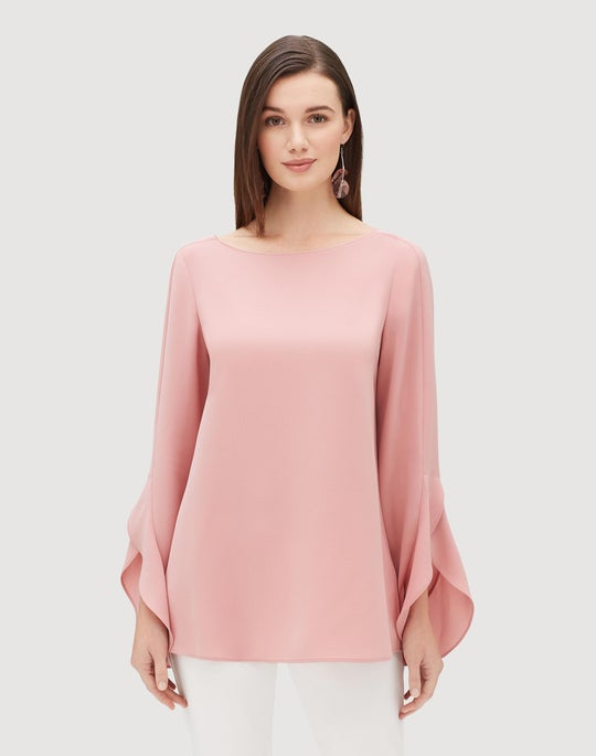 Plus-Size Finesse Crepe Emory Blouse