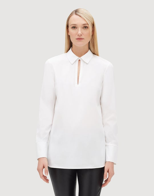 Petite Italian Stretch Cotton Agatha Shirt