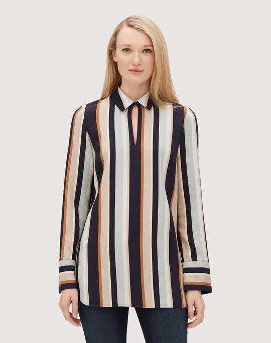 Moderne Stripe Drape Cloth Agatha Blouse
