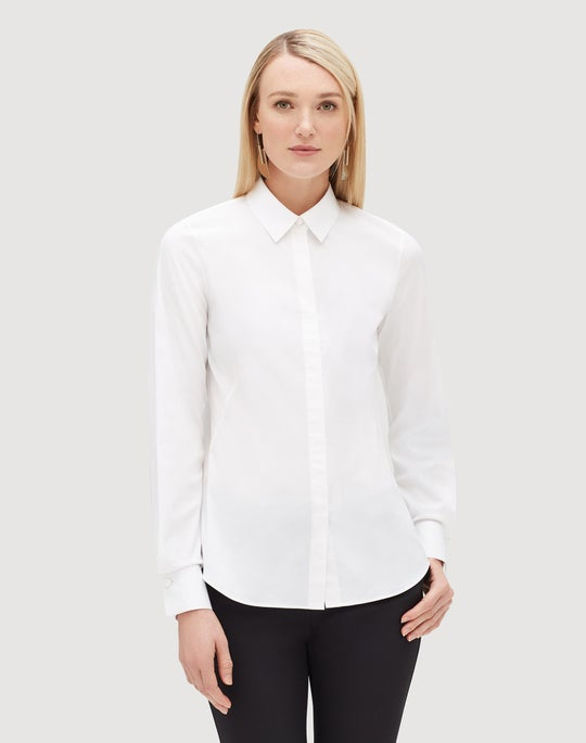 Petite Italian Stretch Cotton Bruno Blouse