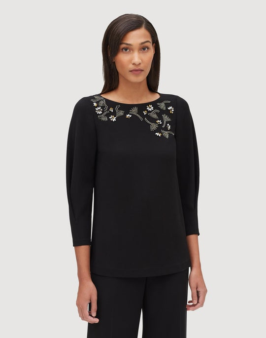 Plus-Size Finesse Crepe Caddie Blouse
