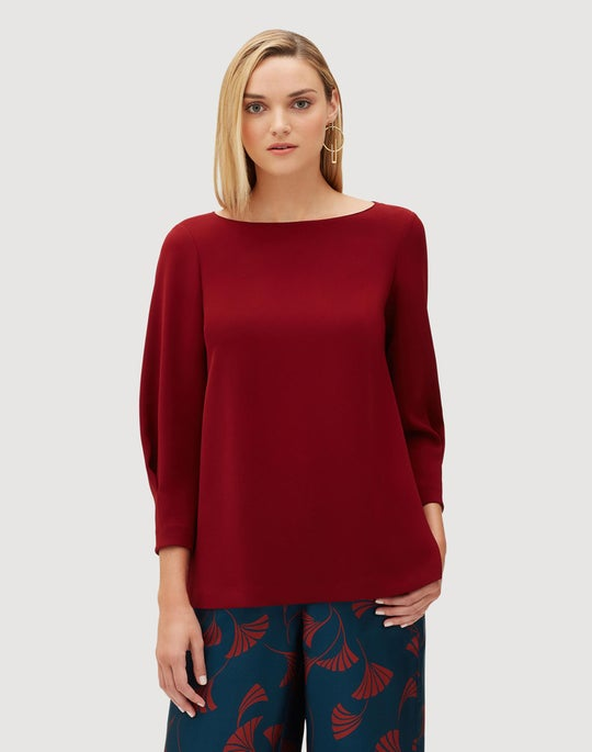 Finesse Crepe Caddie Blouse