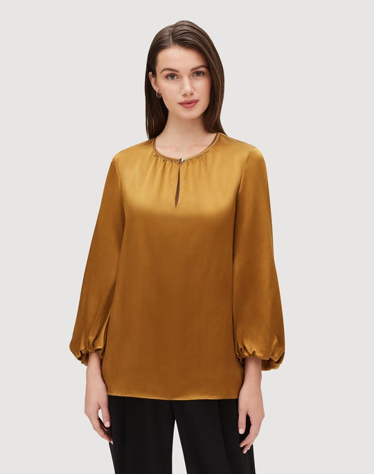 Luxe Charmeuse Prunella Blouse