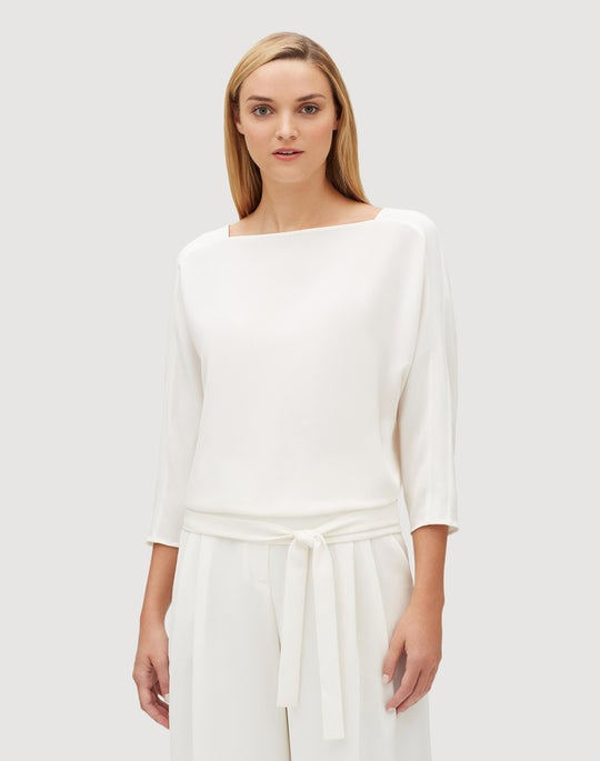 Finesse Crepe Wilda Wrap Back Blouse