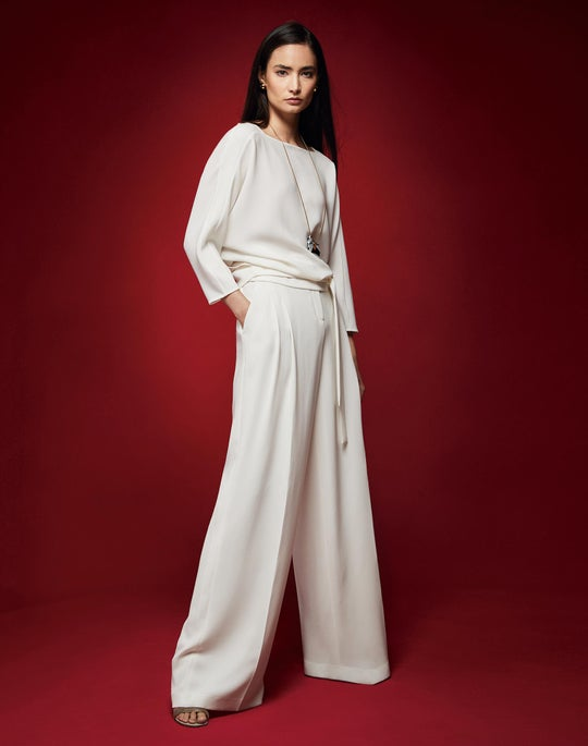 Wilda Wrap Back Blouse and Quincy Pant