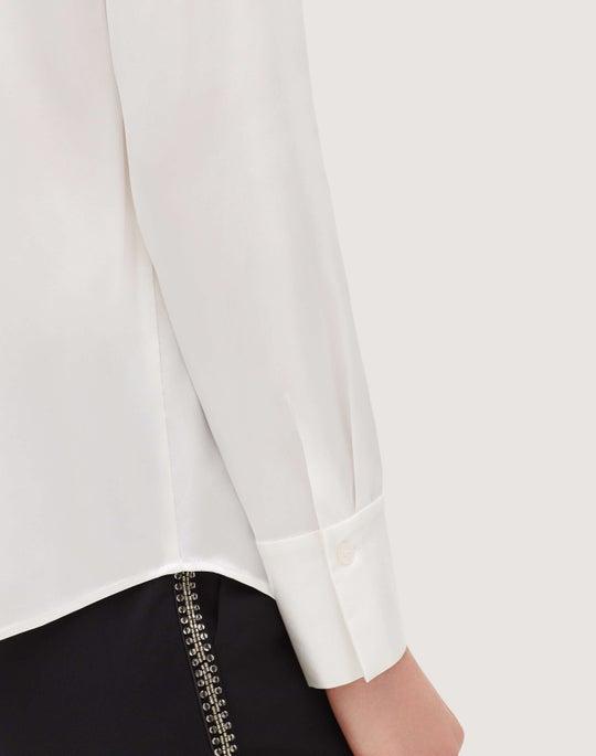 Plus-Size Luxe Charmeuse Semira Blouse