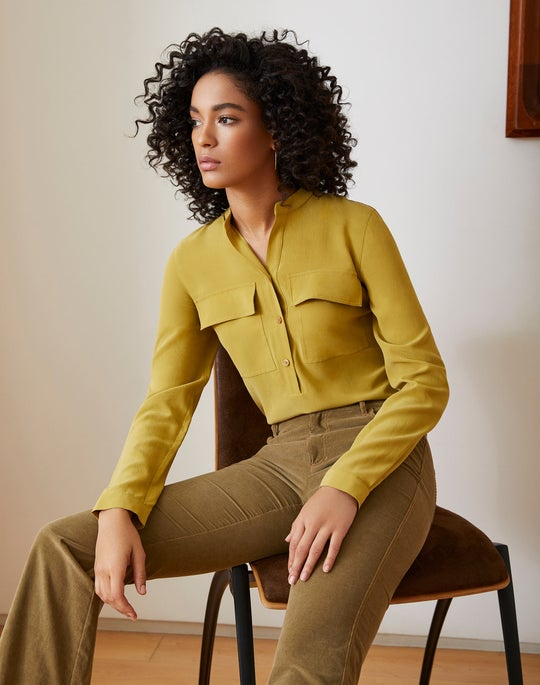 Russell Blouse and Mercer Flare Pant