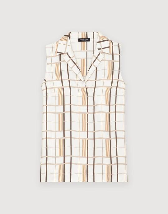 Savvy Plaid Silk Kit Blouse