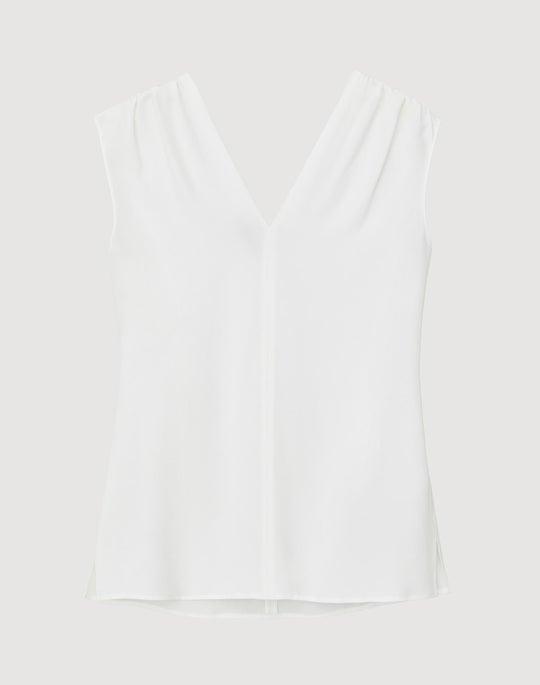 Lightweight Sandwashed Silk Nori Blouse