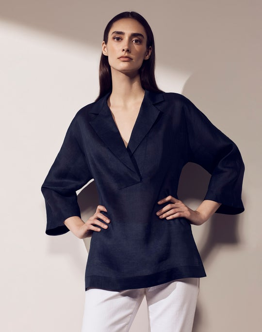 Jane Blouse and Columbus Cropped Wide Leg Pant