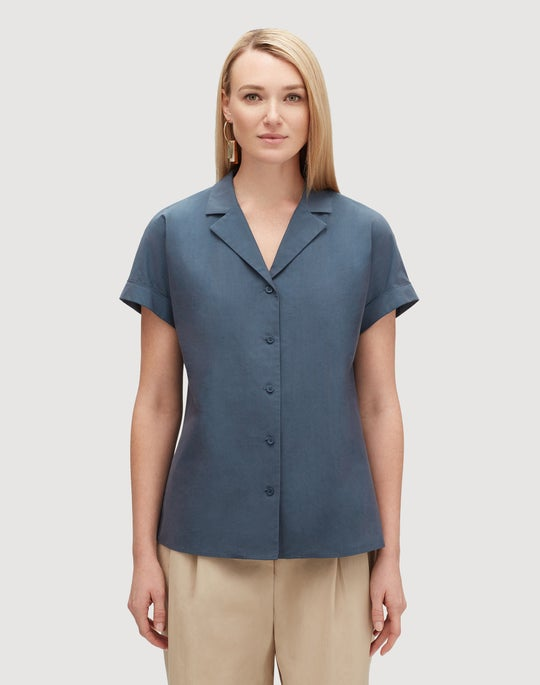 Petite Demure Cotton Beatrice Shirt