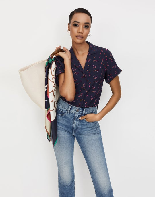 Beatrice Blouse and Mercer Jean