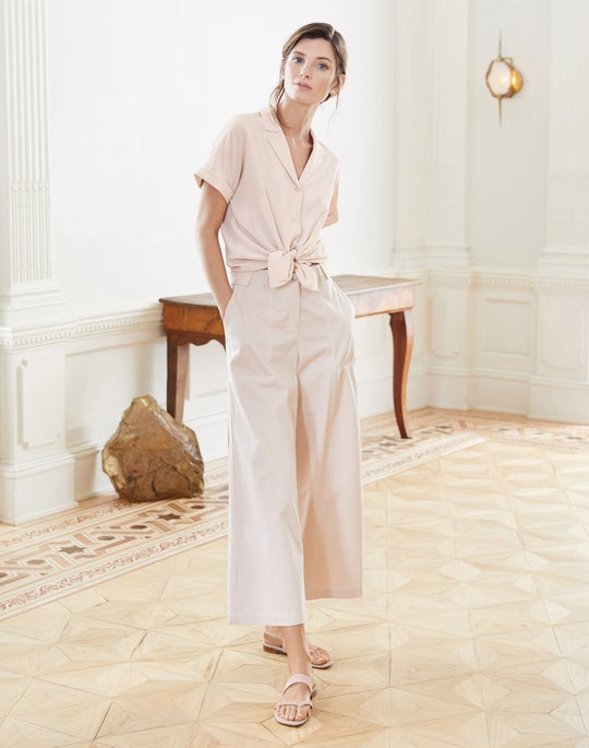 Beatrice Blouse and Cropped Fulton Wide-Leg Pant
