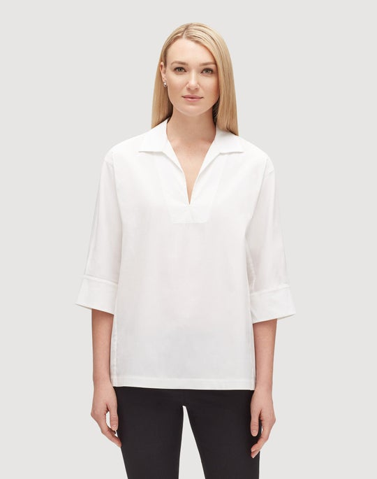 Italian Stretch Cotton Nicole Blouse