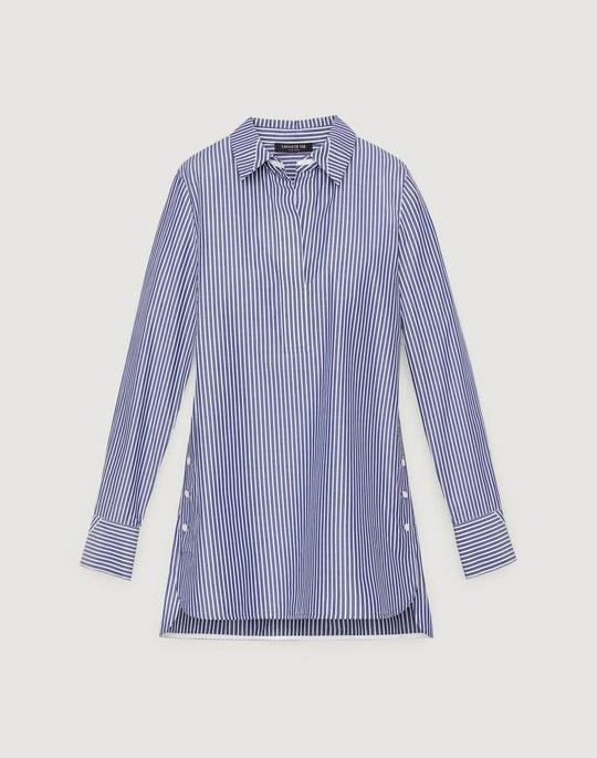 Plus-Size Sutton Stripe Cotton Venida Blouse
