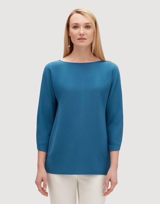 Plus-Size Finesse Crepe Reanna Blouse