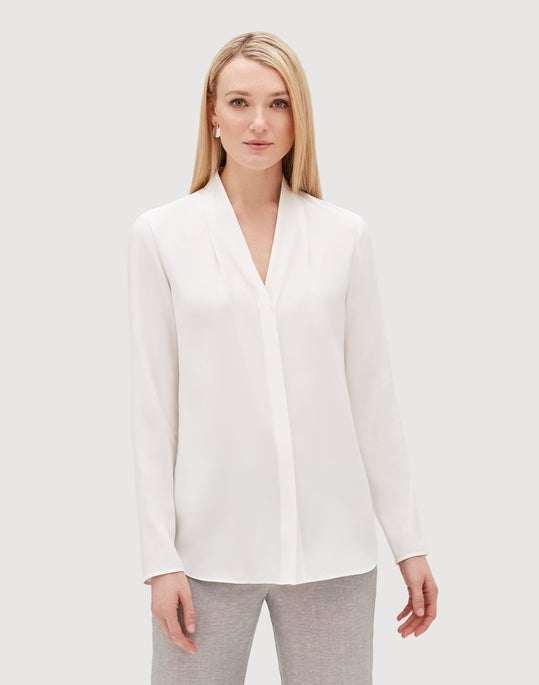 Plus-Size Matte Silk Krimson Blouse