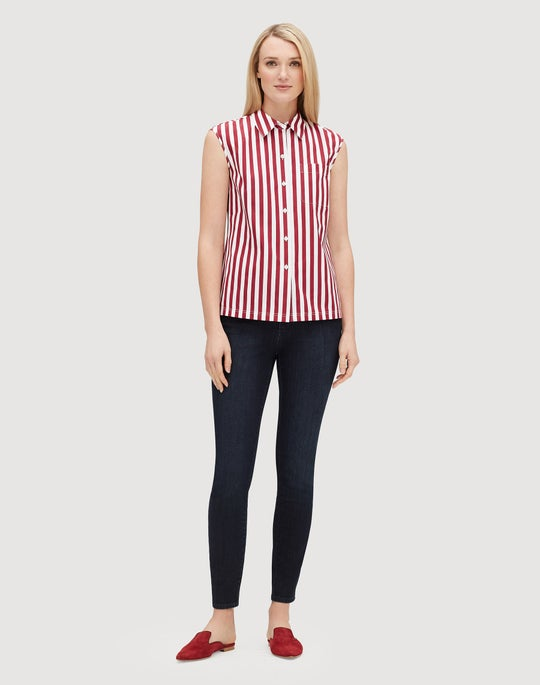Strada Stripe Cotton Yani Shirt