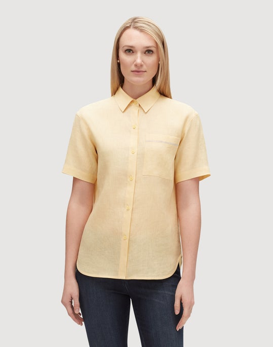 Plus-Size Sublime Linen Justice Blouse