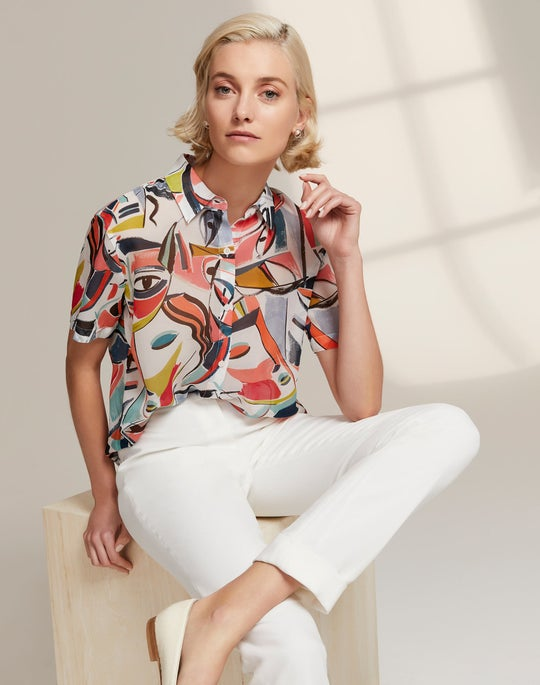 Justice Blouse and Cuffed Clinton Pant
