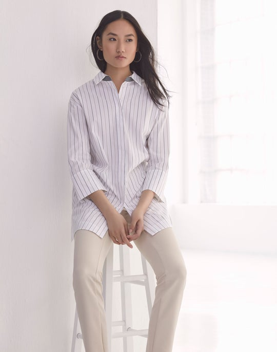 Wade Shirt and Cropped Manhattan Flare Pant