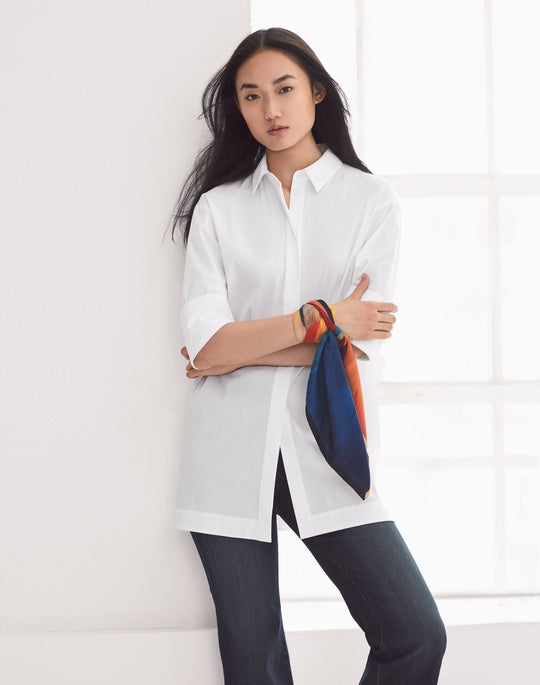 Wade Shirt and Cropped Mercer Flare Jean