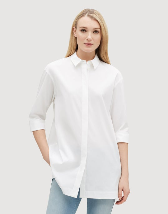 Plus-Size Italian Stretch Cotton Wade Shirt