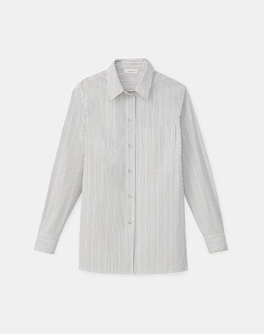 Greyson Shirt In Metallic Stripe KindCotton
