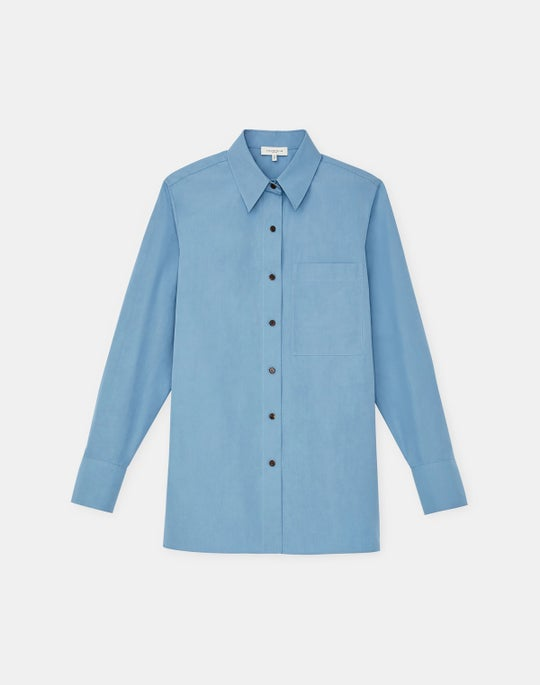 Plus-Size Italian Sculpted Kindcotton Greyson Shirt