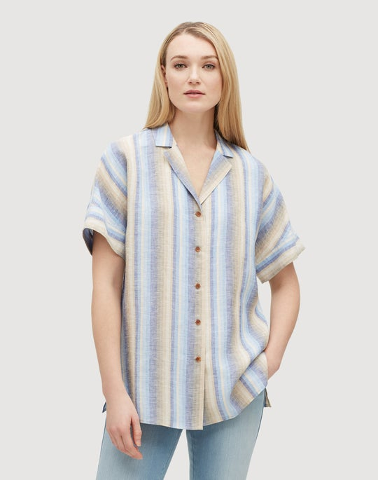Skyscape Stripe Wendell Blouse