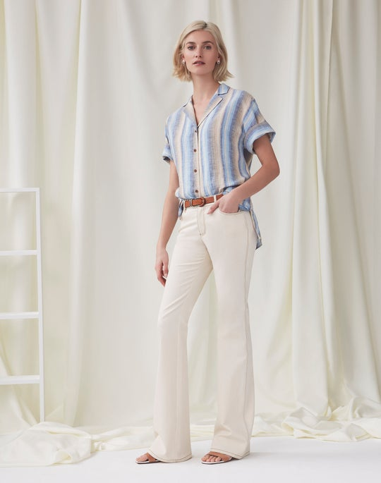 Wendell Blouse and Mercer Flare Jean