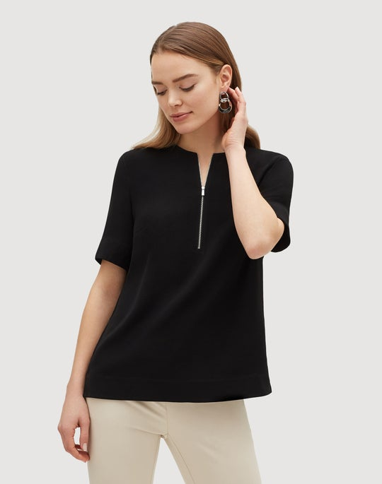 Plus-Size Finesse Crepe Durham Blouse