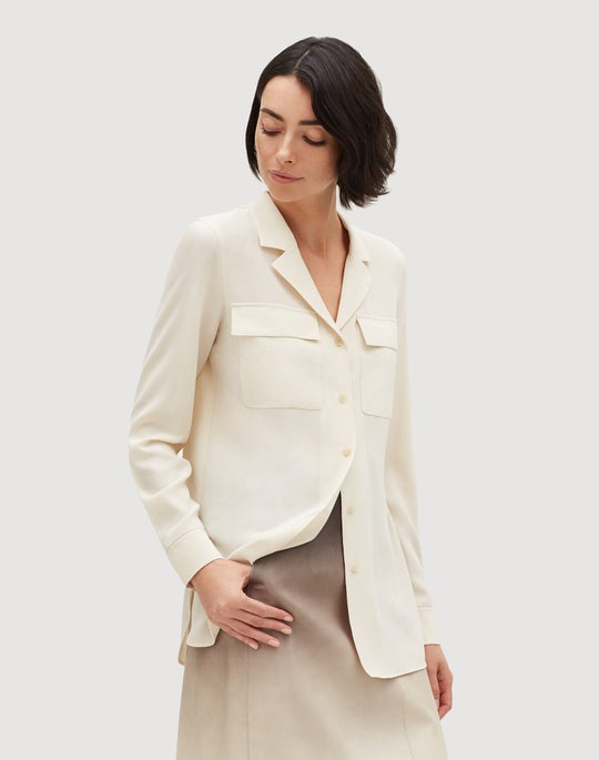 Lightweight Sandwashed Silk Maximina Blouse