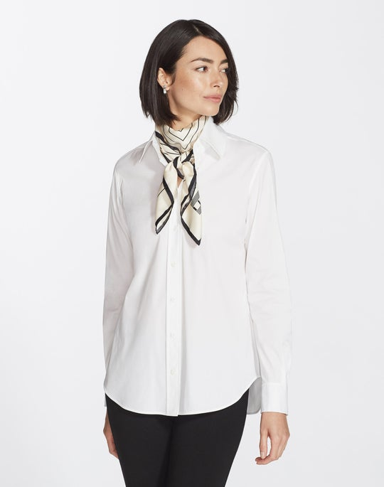 Italian Stretch Cotton James Blouse