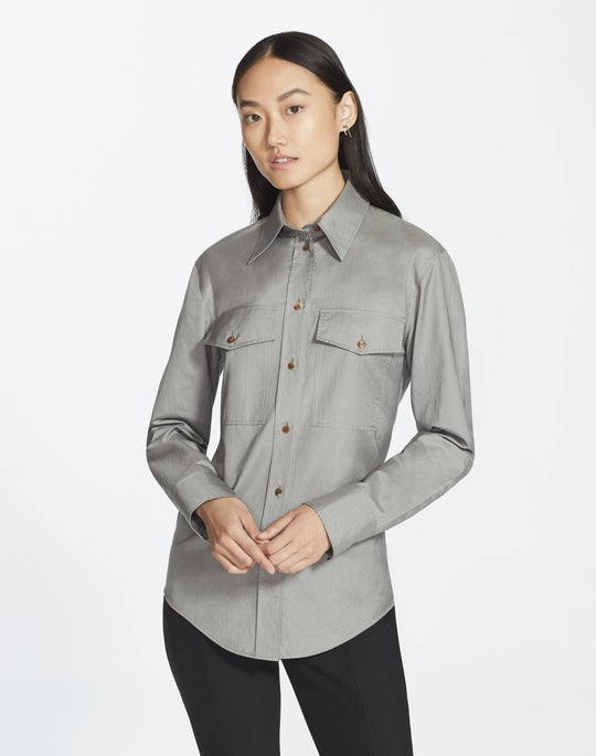 Genteel Shirting Briar Blouse