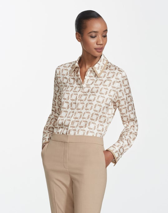 Geo Link Print Twill Julianne Blouse