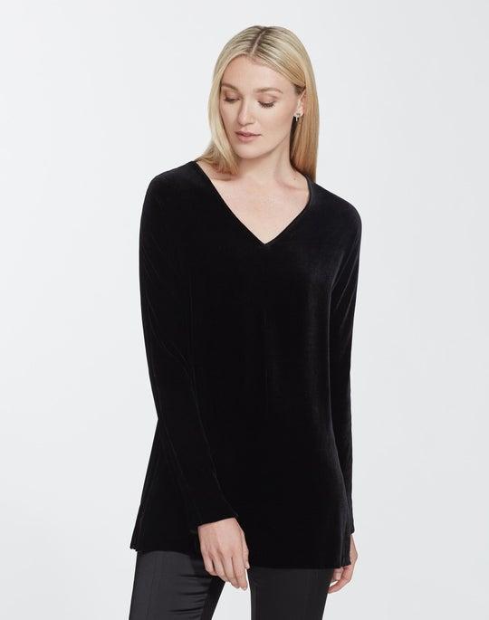 Plus-Size Classic Velvet Thurmen Blouse