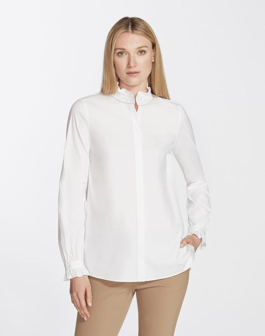 Italian Stretch Cotton Kelly Blouse