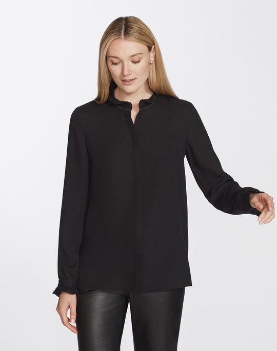Silk Double Georgette Kelly Blouse