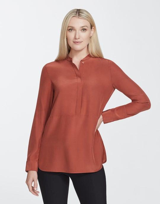 Plus-Size Matte Silk Dree Blouse