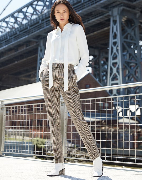 Diana Blouse and Cuffed Clinton Pant