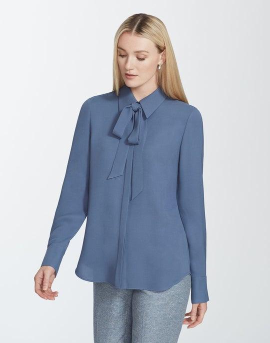 Plus-Size Silk Double Georgette Diana Blouse