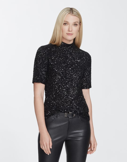 Plus-Size Shimmering Sequin Charis Blouse