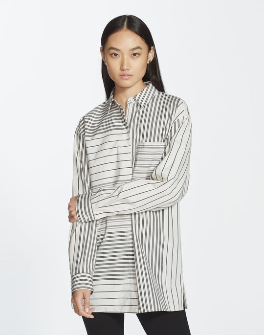 Plus-Size Transcendent Stripe Maston Blouse