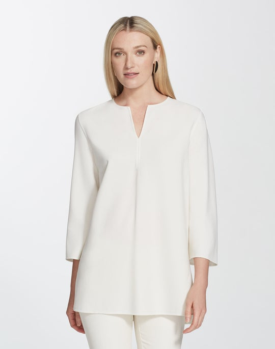 Luxe Italian Double-Face Singer Blouse